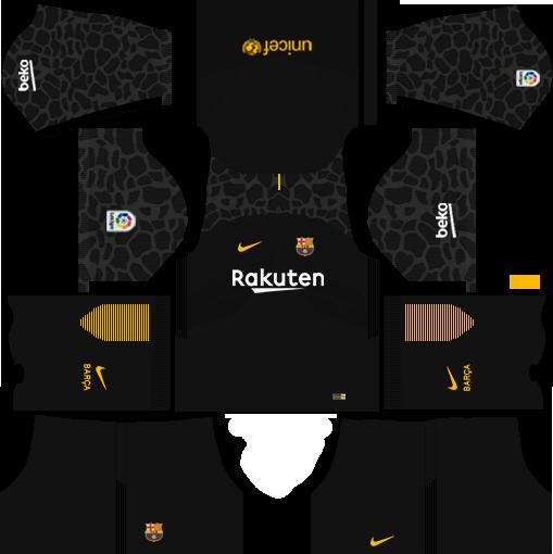 dream league soccer barcelona gk away kit