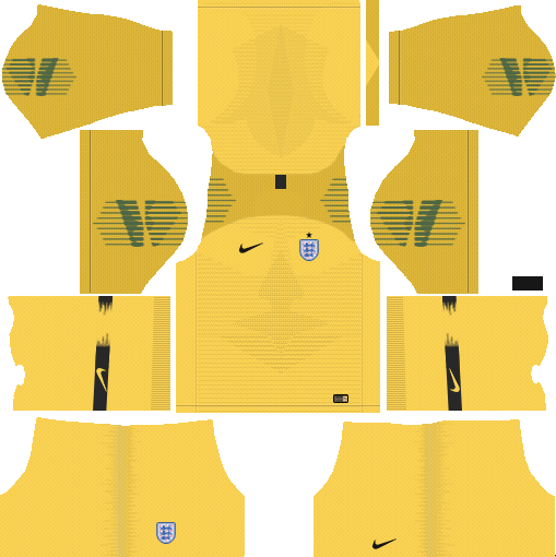 dream league soccer england kit - gk home kit