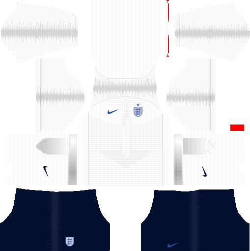 dream league soccer england kits - home kit