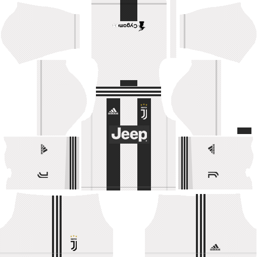 Dream League Soccer Juventus home kit 2018 - 2019
