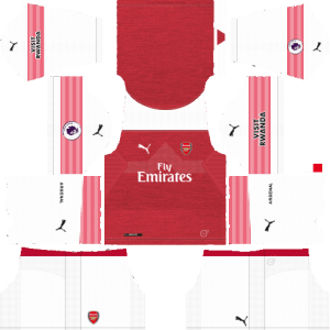 Dream League Soccer (DLS) Arsenal 512×512 Kits & Logos 2019