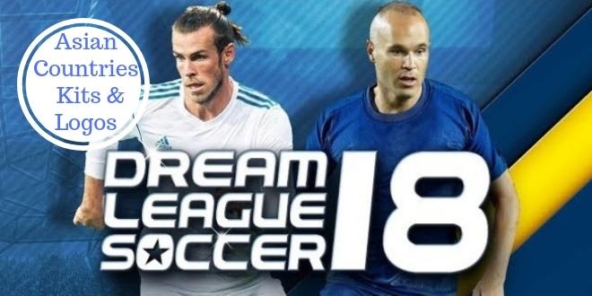 Dream League Soccer Asian Countries Kits & Logos with URLs 2018-2019