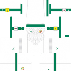 Dream League Soccer Senegal away kit 2018 - 2019-2020