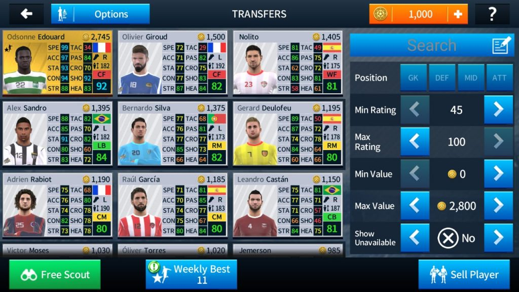 Team management in Dream League Soccer 2019-2020