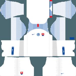 Dream League Soccer Slovakia away kit 2018 - 2019-2020