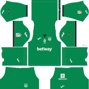 Dream League Soccer CD Leganes goalkeeper home kit 2018 - 2019-2020
