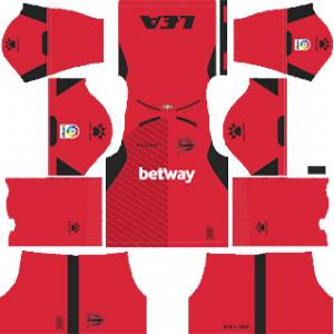 Dream League Soccer Deportivo Alaves goalkeeper away kit 2018 - 2019-2020