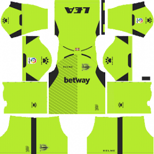 Dream League Soccer Deportivo Alaves goalkeeper home kit 2018 - 2019