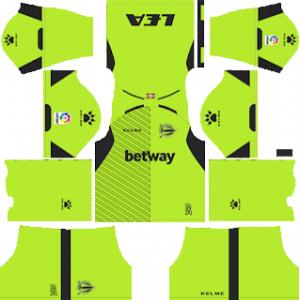 Dream League Soccer Deportivo Alaves goalkeeper home kit 2018 - 2019-2020