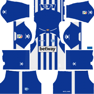 Dream League Soccer Deportivo Alaves home kit 2018 - 2019