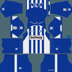 Dream League Soccer Deportivo Alaves home kit 2018 - 2019-2020