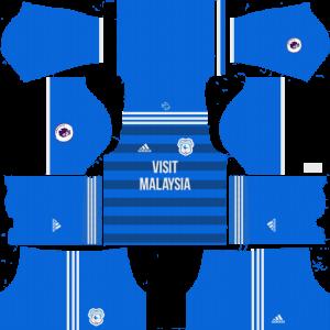 Dream League Soccer Cardiff City home kit 2018 - 2019