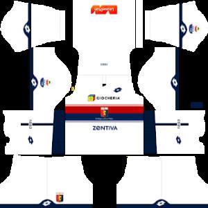 Dream League Soccer Genoa away kit 2018 - 2019