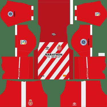 Dream-League-Soccer-Girona-home-kit-2019-2020