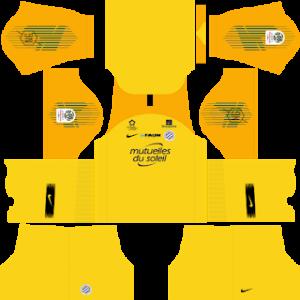Dream League Soccer Montpellier goalkeeper home kit 2018 - 2019