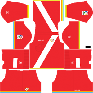 Dream League Soccer Rayo Vallecano goalkeeper home kit - 2018 - 2019
