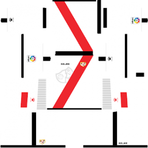 Dream League Soccer Rayo Vallecano home kit - 2018 - 2019