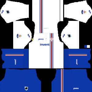 Dream League Soccer Sampdoria away kit 2018-2019