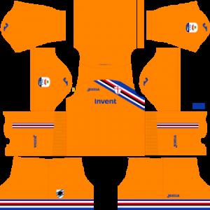Dream League Soccer Sampdoria goalkeeper away kit 2018-2019