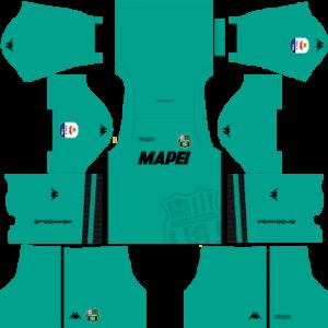 Dream League Soccer Sassuolo goalkeeper home kit 2018-2019