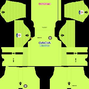 Dream League Soccer Udinese goalkeeper home kit 2018 - 2019