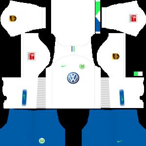 Dream League Soccer Wolfsburg away kit 2018 - 2019