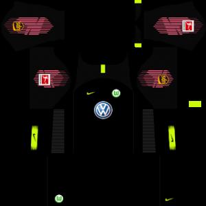 Dream League Soccer Wolfsburg goalkeeper away kit 2018 - 2019