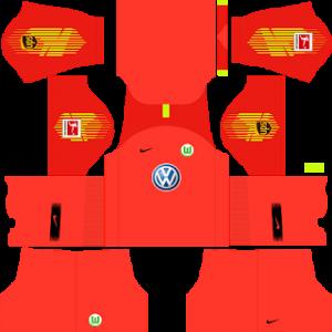 Dream League Soccer Wolfsburg goalkeeper home kit 2018 - 2019