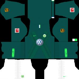 Dream League Soccer Wolfsburg home kit 2018 - 2019