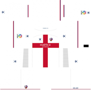 Dream League Soccer Huesca away kit 2018 - 2019