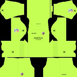 Dream League Soccer Huesca goalkeeper home kit 2018 - 2019