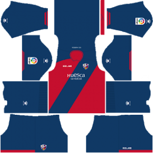 Dream League Soccer Huesca home kit 2018 - 2019