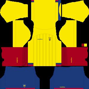 Dream League Soccer Ecuador home kit 2018 - 2019-2020