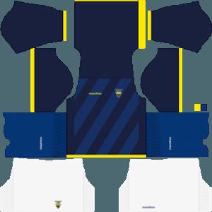 Dream League Soccer Ecuador away kit 2018 - 2019-2020