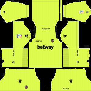 Dream League Soccer Levante UD goalkeeper away kit 2018 - 2019