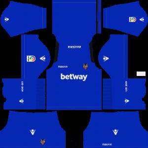Dream League Soccer Levante UD goalkeeper home kit 2018 - 2019
