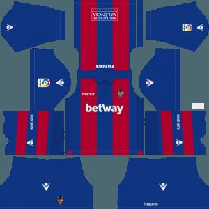 Dream League Soccer Levante UD home kit 2018 - 2019