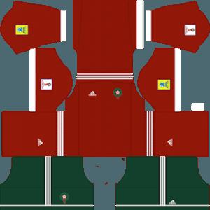 Dream League Soccer Morocco home kits 2018 - 2019