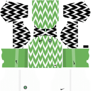 Dream League Soccer Nigeria home kit 2018 - 2019-2020