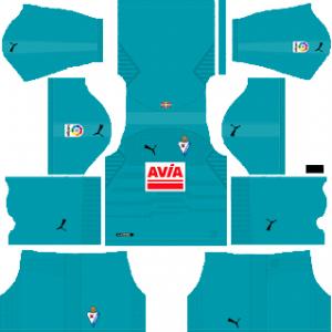 Dream League Soccer SD Eibar goalkeeper away kit away 2019-2020