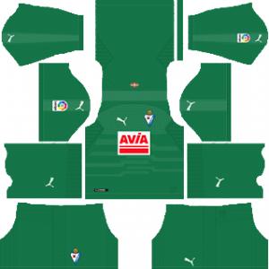 Dream League Soccer SD Eibar goalkeeper home kit 2019-2020