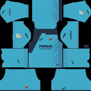 Dream League Soccer Villareal goalkeeper away kit 2018 - 2019-2020