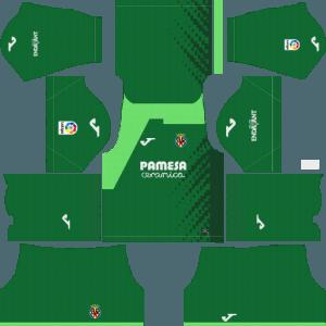 Dream League Soccer Villareal goalkeeper home kit 2018 - 2019-2020