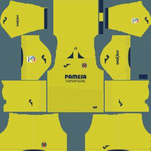 Dream League Soccer Villareal home kit 2018 - 2019-2020