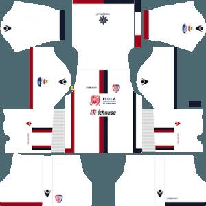 Dream League Soccer Cagliari away kit 2018 - 2019-2020