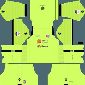 Dream League Soccer Cagliari goalkeeper home kit 2018 - 2019-2020