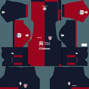 Dream League Soccer Cagliari home kit 2018 - 2019-2020