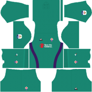 Dream League Soccer Fiorentina goalkeeper home kit 2018 - 2019