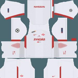 Dream League Soccer Spartak Moscow away kit 2018 - 2019-2020