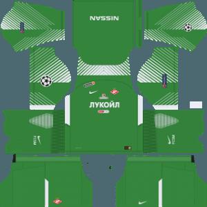 Dream League Soccer Spartak Moscow goalkeeper home kit 2018 - 2019-2020